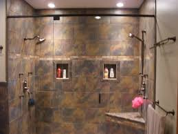 custom walk in showers just needs the waterfall in the center