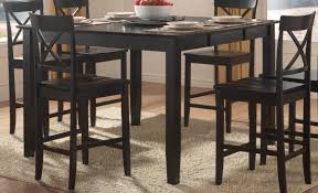 homelegance billings counter height dining table with lazy susan
