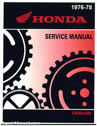 used 1976 1978 honda cb500 cb550 motorcycle service manual