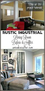 rustic industrial living room before and after uncookie cutter