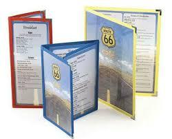 menu covers wholesale tri fold menu covers menu covers gatefold panels 3 panel route 66