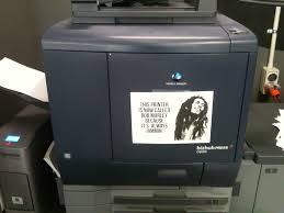 Printer Meme - this printer is called bob marley because it is always jammin