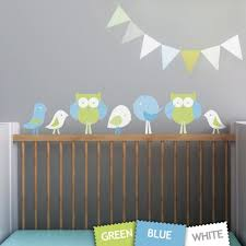 1 birds and owls leafy dreams nursery decals removable kids