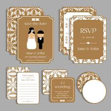 cards for marriage set of floral vintage wedding cards wedding stock vector