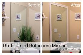 How To Hang A Large Bathroom Mirror - amazing design ideas trim around bathroom mirror how to build a
