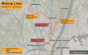 hudson bergen light rail map links in jersey the transport politic