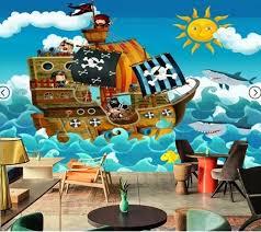 fresque chambre enfant personnalisé photo papier peint bateau pirate de mur fresque murale