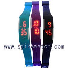 digital bracelet led watches images Blue color new model touch screen boys girls waterproof digital jpg