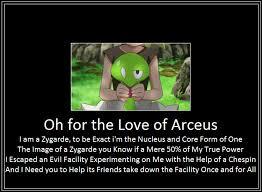 Arceus Meme - zygarde introduction meme by 42dannybob on deviantart