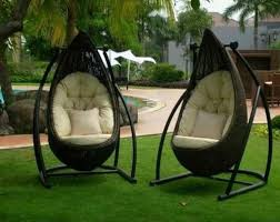 outdoor design hanging bed with unique style and nice design