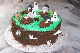halloween cake decorating ideas graveyard page 3 divascuisine com
