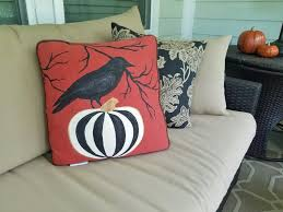 halloween painted outdoor pillows diy makeover lucy designs art