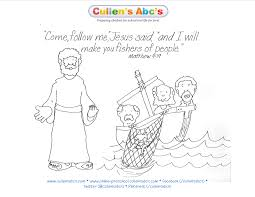 jesus chooses his disciples bible key point coloring page for a