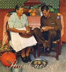 norman rockwell thanksgiving and peeling potatoes 1945