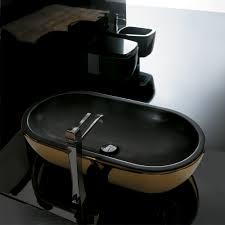 home u003e sinks u003e black stone vessel sink black bathroom vanity with