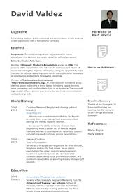 Resume Examples Cashier by Cashier Server Resume Samples Visualcv Resume Samples Database