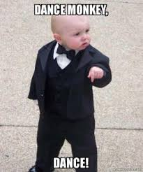 Baby Monkey Meme - dance monkey dance godfather baby make a meme