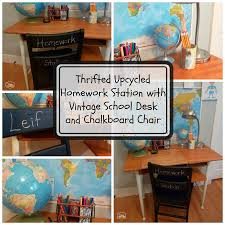 Kids Homework Station by Upcycled U0026 Thrifted Makeovers Archives The Happy Housie