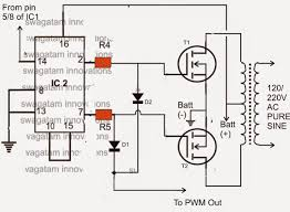 ic 556 pure sine wave inverter circuit