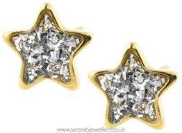 gold plated earrings for sensitive ears studex sensitive 24ct gold glitter earrings serenity jewellery