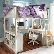 Full Size Bed With Desk Under Full Size Loft Bed With Desk And Storage Brown Wooden Laminated