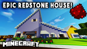 Modern House Impressive Redstone Modern House Fully Functional Minecraft