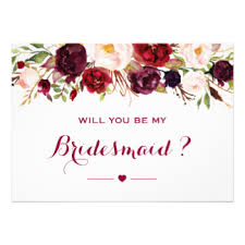 Bridesmaid Card Wording Will You Be My Bridesmaid Invitations U0026 Announcements Zazzle