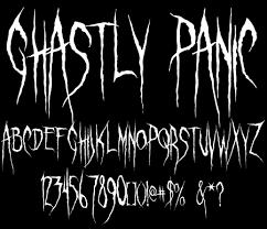 sinister fonts chad savage u0027s free original horror scary