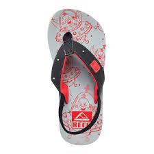 reef ahi light up prints flip flops grey red kids shoes reef