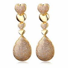 fashion earrings fashion earrings cubic zircon setting luxury drop earring big