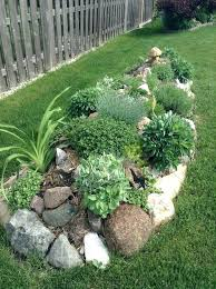 Small Garden Border Ideas Garden With Rock Border Rock Garden Border Ideas Faux Rock Garden