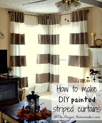 Brown And White Striped Curtains Diy Painted Striped Curtains Yes I Painted My Curtains