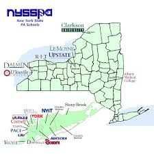 Map New York State Ny State Pa Programs New York State Society Of Physician Assistants