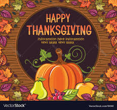 thanksgiving greeting card royalty free vector image