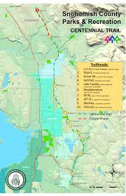 Centennial Colorado Map by Extended Centennial Trail Stretches To Skagit County Border