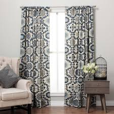 Suzani Curtain Suzani Cotton Print Rod Pocket Curtain Panel Free Shipping Today