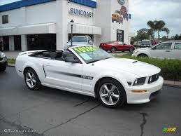 2007 ford mustang california special 2007 performance white ford mustang gt cs california special