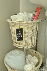 wicker baskets for bathroom