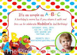 Birthday Invitation Cards Models Sesame Street Birthday Invitations Iidaemilia Com