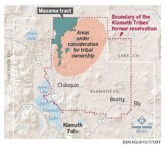 Klamath Falls Oregon Map by Klamath Tribes Seek Parts Of Fremont Winema National Forest After