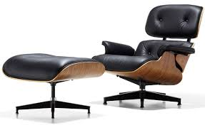 furniture eames lounge chair with genuine real italian leather