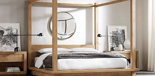 Platform Canopy Bed Bedroom Collections Rh