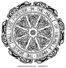 viking design magical runic compass vegvisir stock vector