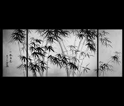 Asian Wall Decor Bamboo Painting Canvas Art Asian Modern Wall Decor Loversiq