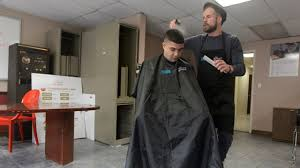 joshua coombes offers haircuts for the homeless am new york