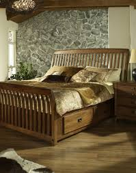 Cherry Wood King Headboard Bed Frames Wood Headboard King Cherry Sleigh Bed King Platform