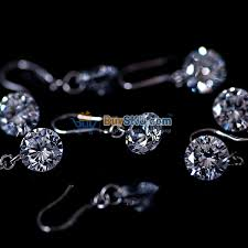10mm diamond fashion women 10mm diamond earrings ear pendants one