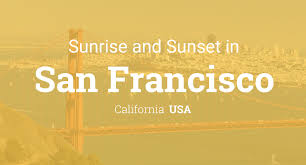 America Map San Francisco by Sunrise And Sunset Times In San Francisco
