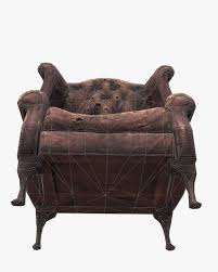 Leather Chair 3d Model Old Leather Chair Game Ready Pbr Textures Vr Ar Low