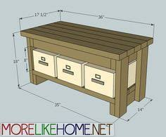 Free Deacon Storage Bench Plans by More Like Home Day 9 Build A Bench With 2x4s Things I Would
